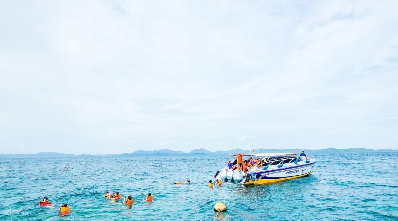 3 khai islands speedboat tour, khai islands boat tour, tiket khai islands tour